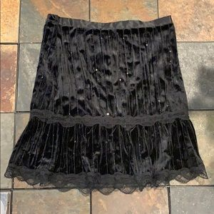 Black skirt with scattered sequins